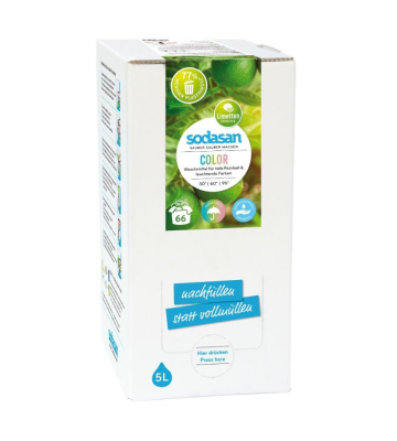 SODASAN COLOR Flüssigwaschmittel Limette 5 Liter Bag in Box