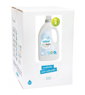 SODASAN COLOR Flüssigwaschmittel sensitiv 20 Liter Bag in Box