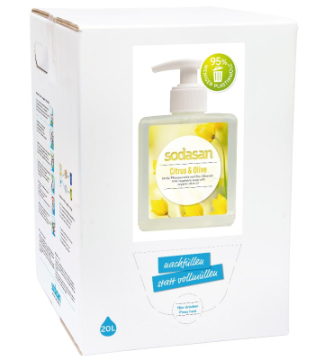 SODASAN Flüssigseife Liquid Citrus-Olive 20 Liter Bag in Box