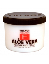 VILLAGE VITAMIN E Bodycream Aloe Vera 500 ml Körperlotion